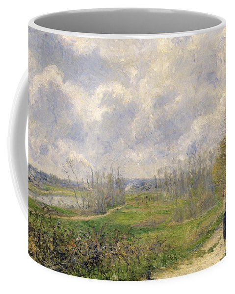 Path Coffee Mug featuring the painting La Sente Du Chou Near Pontoise by Camille Pissarro