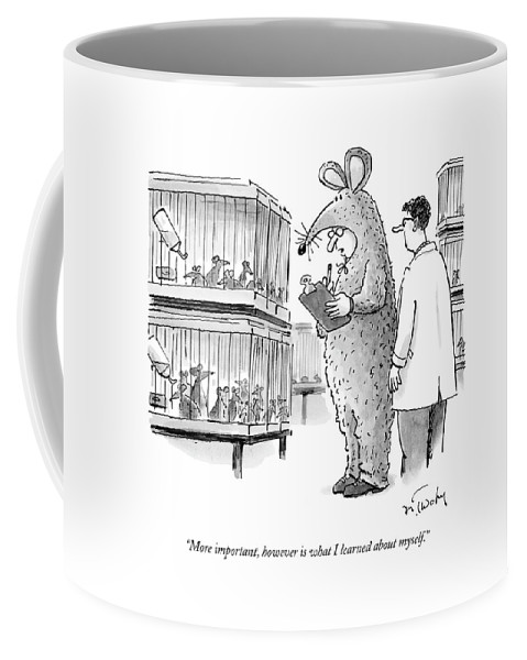 Lab Technician Dressed In A Mouse Costume Coffee Mug