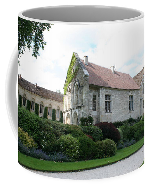 Abbey Coffee Mug featuring the photograph L'abbaye De Fontenay by Christiane Schulze Art And Photography
