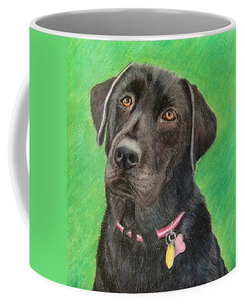 Dog Coffee Mug featuring the drawing Labrador Retriever by Melanie Feltham