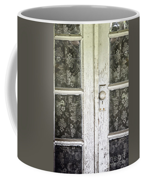 Doors Coffee Mug featuring the photograph Lace Curtains by Margie Hurwich