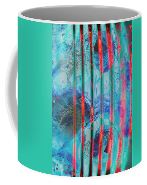 Abstract Coffee Mug featuring the photograph Lacerations Have Wounded by The Artist Project