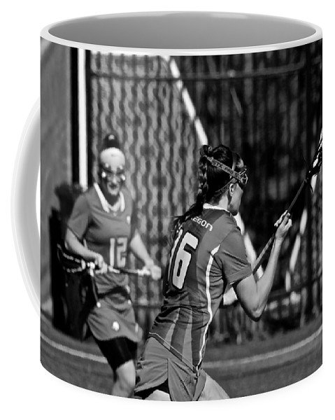 Athlete Coffee Mug featuring the photograph Lacrosse by Laddie Halupa