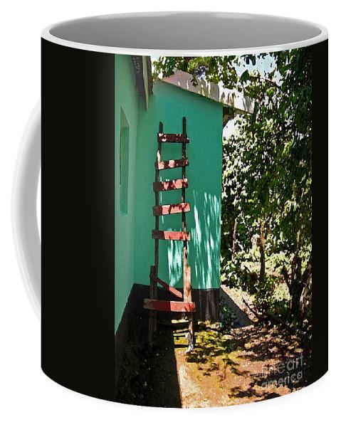 Africa Coffee Mug featuring the photograph Ladder by Karen Adams