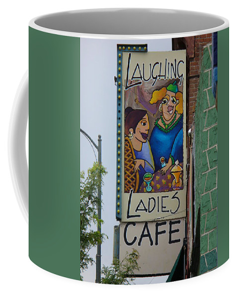 Lyle Coffee Mug featuring the painting Ladies Cafe by Lord Frederick Lyle Morris