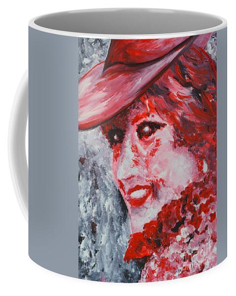 Princess Diana Coffee Mug featuring the painting Lady Di by Alys Caviness-Gober