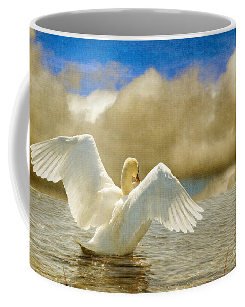 Swans Coffee Mug featuring the photograph Lady-in-waiting by Lois Bryan