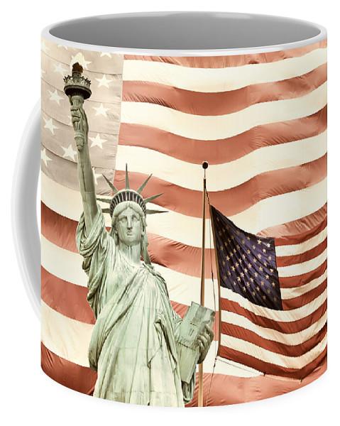 Lady Liberty And American Flag Coffee Mug For Sale By Jaroslav Frank