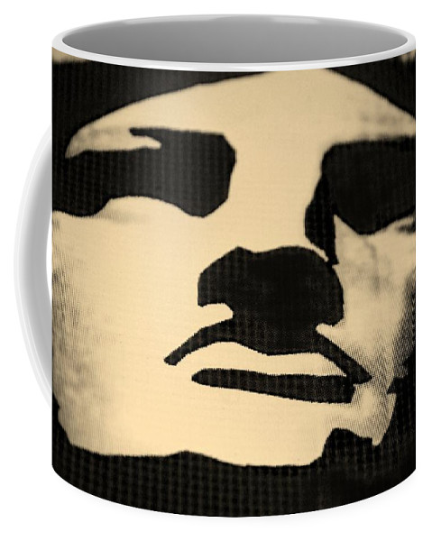 Statue Of Liberty Coffee Mug featuring the photograph Lady Liberty In Dark Sepia by Rob Hans