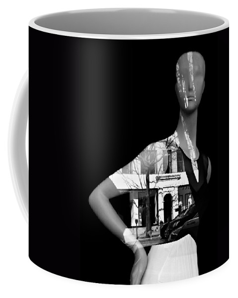 Black And White Coffee Mug featuring the photograph Lady Luck by Diana Angstadt