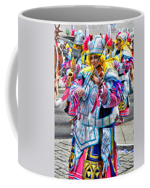 Mummer Coffee Mug featuring the photograph Lady Viking Mummer by Alice Gipson