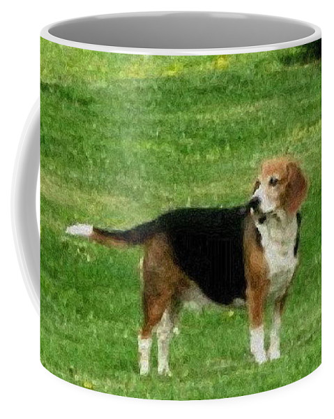 Dog Coffee Mug featuring the photograph Lady7 by April Patterson