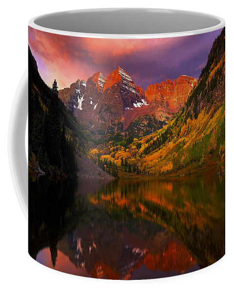 Lake Coffee Mug featuring the photograph Lake 4 by Ingrid Smith-Johnsen