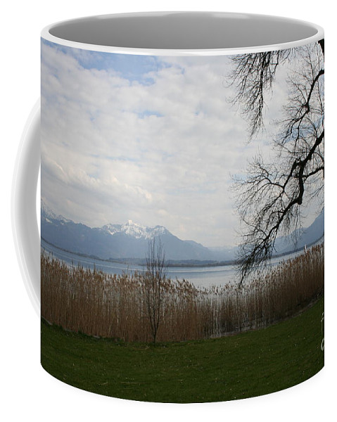 Lake Coffee Mug featuring the photograph Lake And Mountains by Christiane Schulze Art And Photography