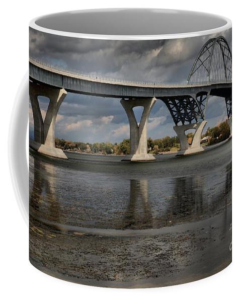Lake Champlain Bridge Coffee Mug featuring the photograph Lake Champlain Bridge by Adam Jewell
