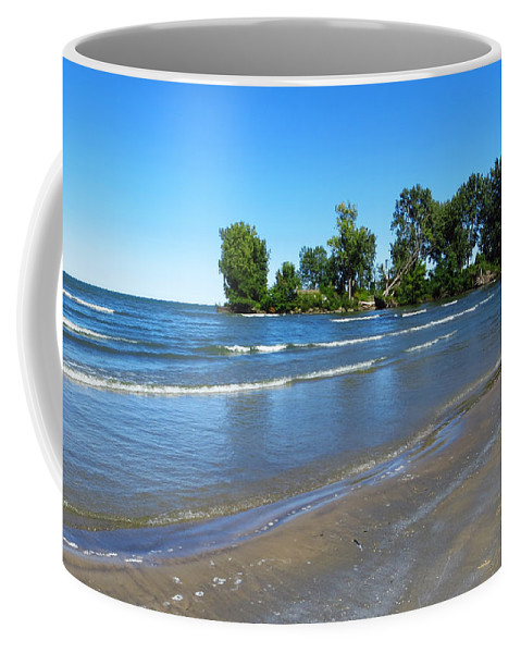 Sheldon Marsh Coffee Mug featuring the photograph Lake Erie At Sheldon Marsh 2 by Shawna Rowe