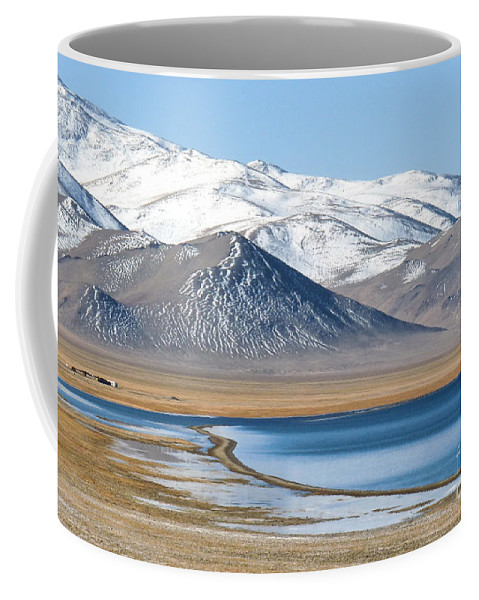 Lake Kara Kul Coffee Mug featuring the photograph Lake Kara Kul by Karla Weber