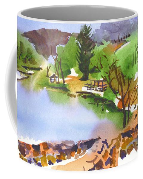Lake Killarney With Rock Wall Coffee Mug featuring the painting Lake Killarney With Rock Wall by Kip DeVore
