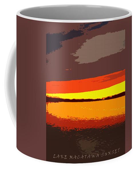 Sunset Coffee Mug featuring the photograph Lake Macatawa Sunset by Michelle Calkins