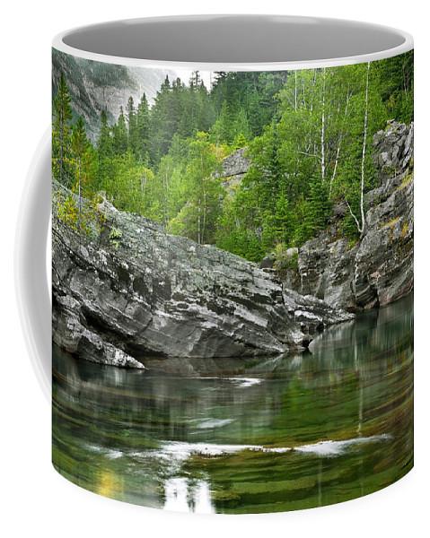 Glacier National Park Coffee Mug featuring the photograph Lake Mcdonald Falls River Glacier National Park by Rich Franco