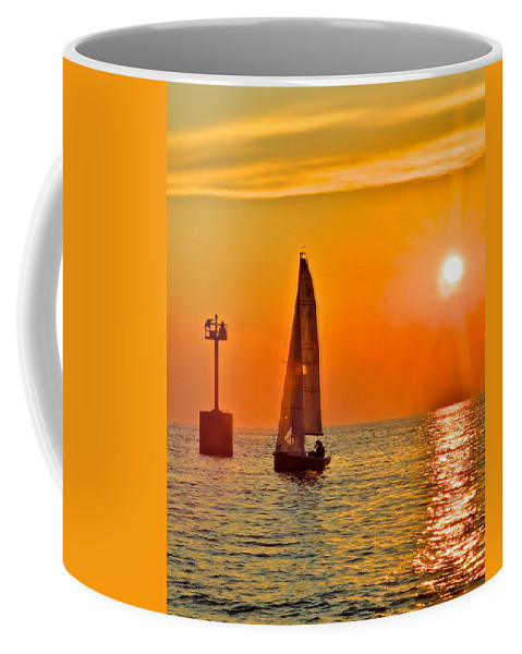 Gold Coffee Mug featuring the photograph Lake Of Gold by Frozen in Time Fine Art Photography