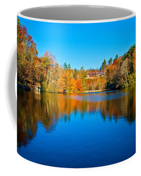 Autumn Coffee Mug featuring the photograph Lake Reflections by Alex Grichenko