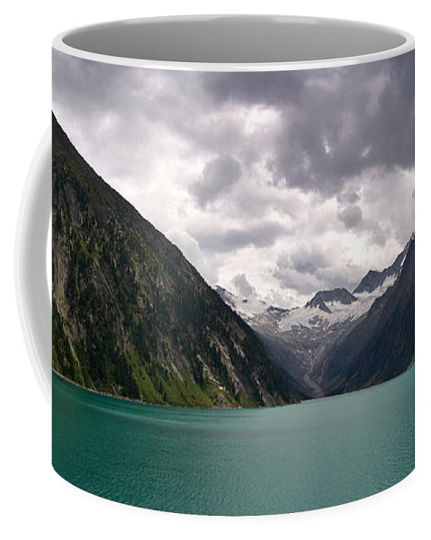 Tyrol Coffee Mug featuring the photograph Lake Schlegeis by Thomas Richter