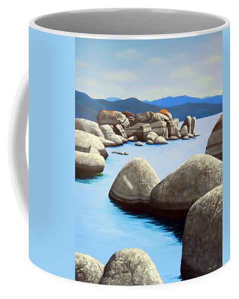 Lake Tahoe Coffee Mug featuring the painting Lake Tahoe Rock Garden by Frank Wilson