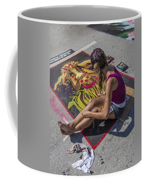 Florida Coffee Mug featuring the photograph Lake Worth Street Painting Festival by Debra and Dave Vanderlaan