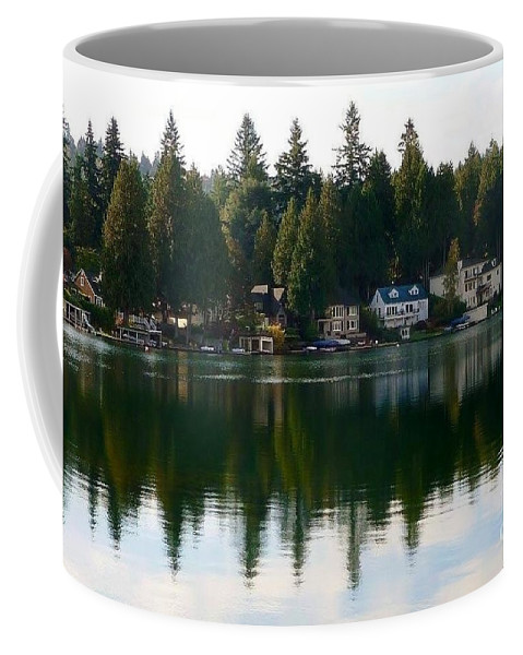 Scenic Landscape Coffee Mug featuring the photograph Lakewood Bay by Susan Garren