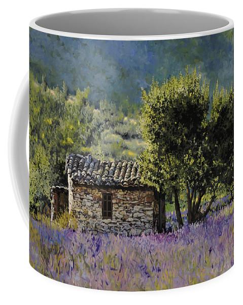 Lavender Coffee Mug featuring the painting Lala Vanda by Guido Borelli