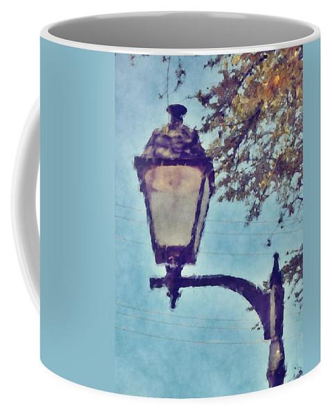 Lamp Coffee Mug featuring the digital art Lamp Post by David G Paul