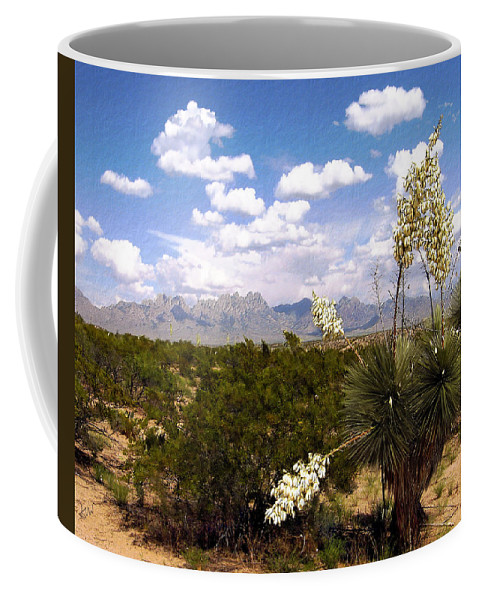 Organ Mountains Coffee Mug featuring the photograph Lampadres De Dios by Kurt Van Wagner