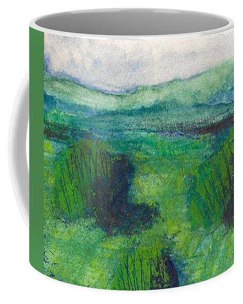 Landscape Coffee Mug featuring the painting Land 1 by James Raynor