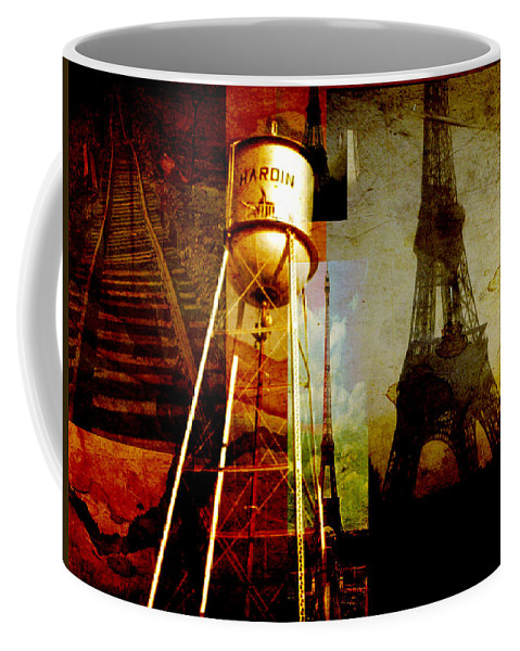 Coffee Mug featuring the digital art Landmarks by Cathy Anderson