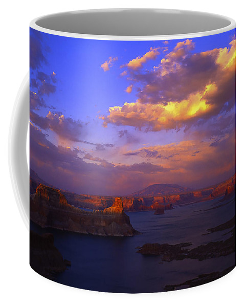 Clouds Coffee Mug featuring the photograph Landscape 413 by Ingrid Smith-Johnsen