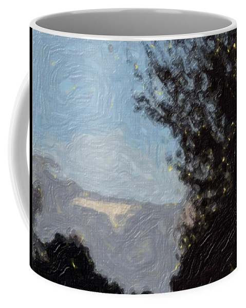 Landscape Coffee Mug featuring the painting Landscape of Fall by Sergey Bezhinets