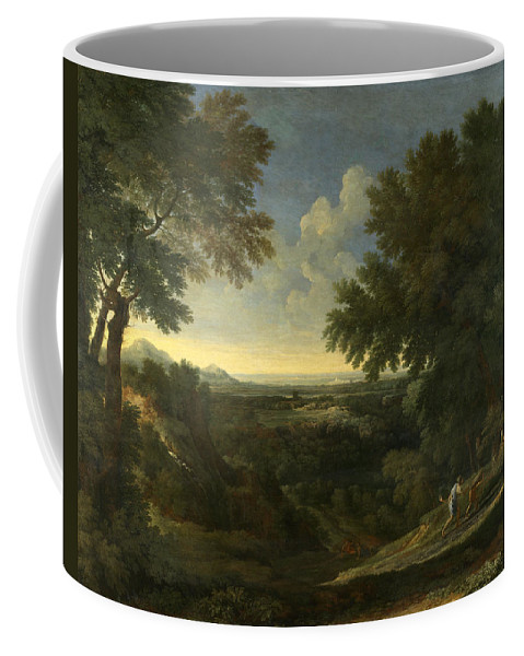 Gaspard Dughet Coffee Mug featuring the painting Landscape With Abraham And Isaac by Gaspard Dughet