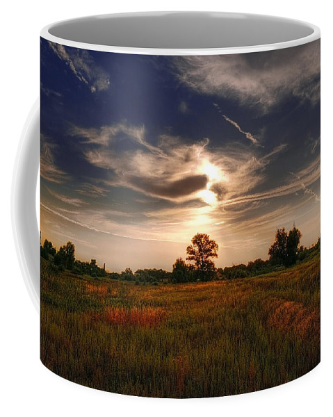 Blue Coffee Mug featuring the photograph Landscape03 by Svetlana Sewell
