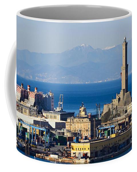Architecture Coffee Mug featuring the photograph Lanterna - Lighthouse In Genova by Antonio Scarpi