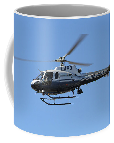 Lapd Coffee Mug featuring the photograph Lapd In Flight by Shoal Hollingsworth