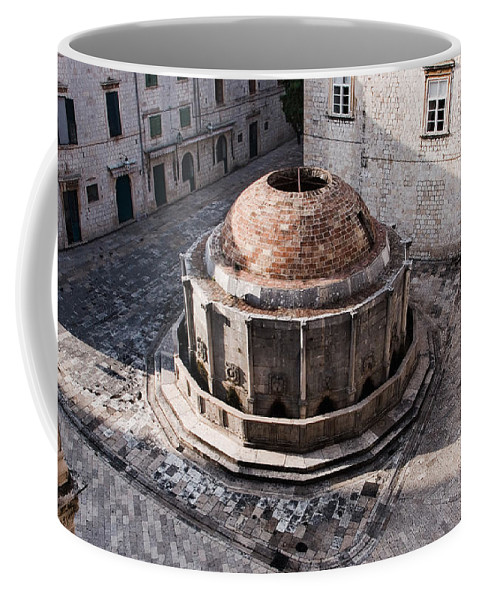 Onofrio Coffee Mug featuring the photograph Large Onofrios Fountain On A Summer Morning From The Ramparts by Weston Westmoreland