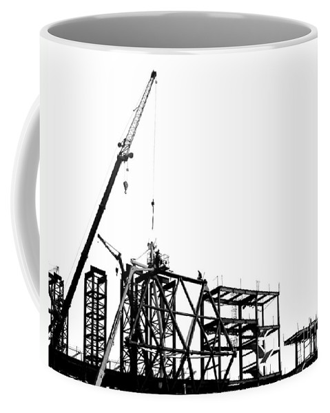 Construction Coffee Mug featuring the photograph Large Scale Construction In Outline by Yali Shi