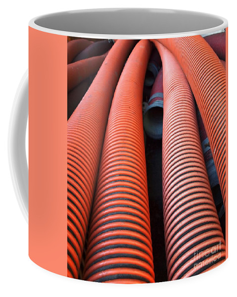 Pipes Coffee Mug featuring the photograph Large Sewage Pipes by Yali Shi