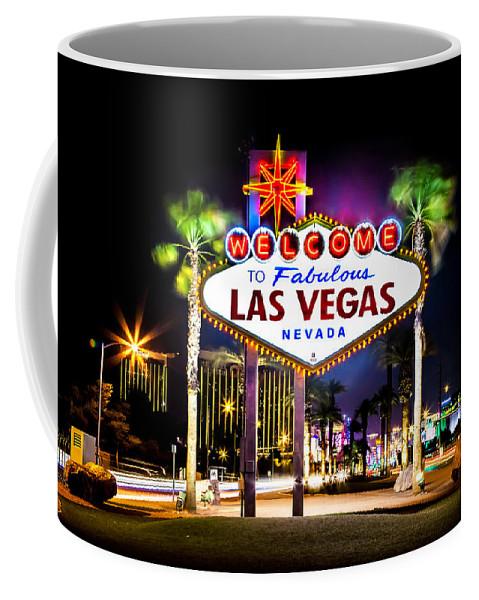 Las Vegas Coffee Mug featuring the photograph Las Vegas Sign by Az Jackson