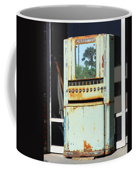Cigarettes Coffee Mug featuring the photograph Last Cigarette Palm Springs by William Dey