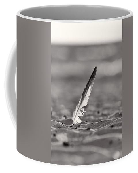 Clouds Coffee Mug featuring the photograph Last Days Of Summer In Black And White by Sebastian Musial