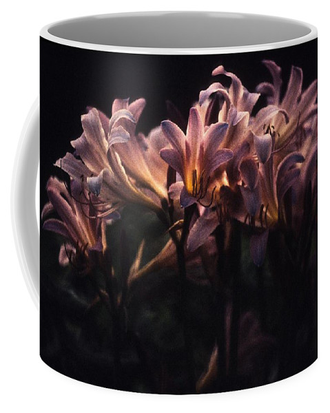Lillies Coffee Mug featuring the photograph Last Light Lillies by Doug Barber