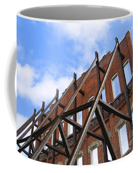 Demolition Coffee Mug featuring the photograph Last Wall Standing by Ann Horn
