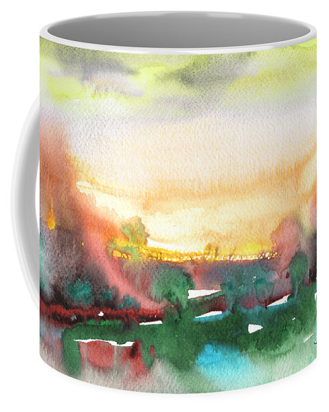Landscapes Coffee Mug featuring the painting Late Afternoon 59 by Miki De Goodaboom